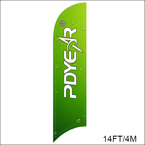 Replacement For 14FT/4M Feather Banner Large