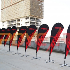 custom teardrop flag banners