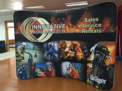Fabric backdrops for trade shows